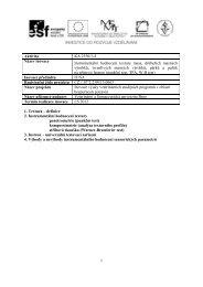 Textura - Veterinární a farmaceutická univerzita Brno