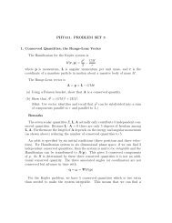 PHY411. PROBLEM SET 3 1. Conserved Quantities - Astro Pas ...