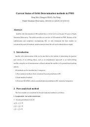 S6.2 Current Status of Orbit Determination Methods in PMO