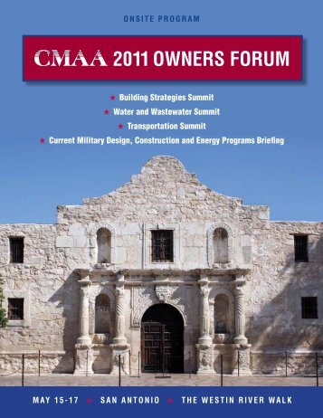 2011 Owners FOrum mAY 15-17 - CMAA