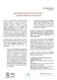 Communiqué de presse - Institut des Hautes Études Scientifiques