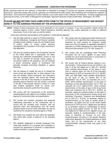 Omb Standard Form 424b