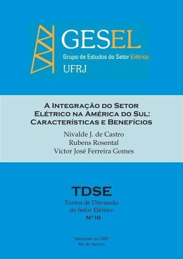 A Integração do Setor Elétrico na América do Sul ... - Nuca - UFRJ