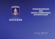 Signage and Advertising - Fremantle Football Club