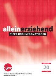 Alleinerziehend – Tipps und Informationen - Vamv