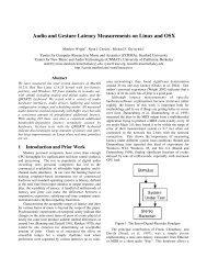 Full text PDF - CNMAT - University of California, Berkeley