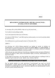 Téléchargement du règlement des crèches collectives