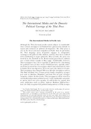 The International Media and the Domestic Political Coverage of the ...