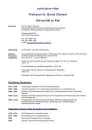 Prof. Dr. Clement . Curriculum Vita - Pharmazeutisches Institut