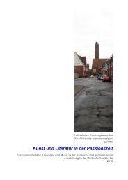 Kunst und Literatur in der Passionszeit - Uwe Appold