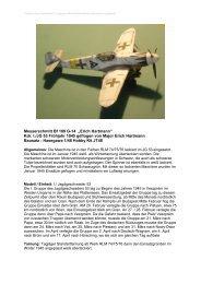 """Messerschmitt Bf 109 G-14 """"Erich Hartmann"""" Kdr. I./JG 53 Frühjahr ..."""