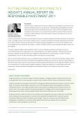 Putting principles into practice 2011 - Insight Investment - Page 4