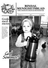 Menighetsbladet nr 3-2007 - Bindal kommune