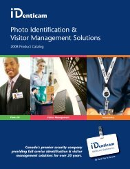Photo Identification & Visitor Management Solutions - IDenticam