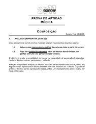 PROVA DE APTIDÃO MÚSICA - Unicamp