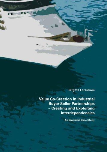 Value Co-Creation in Industrial Buyer-Seller Partnerships ... - Doria