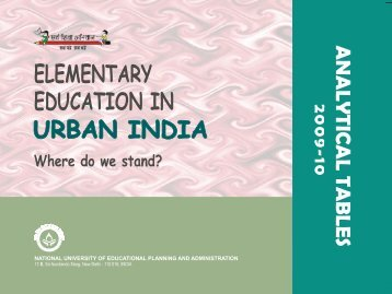 Elementary Education in Urban India: 2009-10 - DISE
