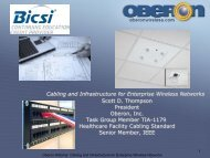 Cabling and Infrastructure for Enterprise Wireless ... - Oberon Inc.