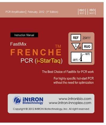 User Manual - FastMix Frenche Hot Start PCR Kit - Bulldog Bio