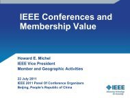 Conferences and Membership Value