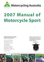 2007 GCRs.indd - Motorcycling Australia