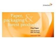 Fine Paper - Stora Enso