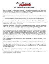 RADIUS ROD BUSHING SET - Hi-Performance Engineering