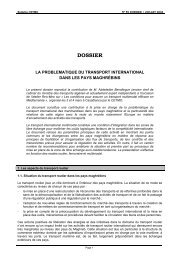 la problematique du transport international dans les pays ... - cetmo