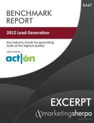 Excerpt: 2012 Lead Generation Benchmark Report - meclabs