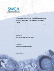 noxious and invasive weed management plan for kennecott utah ...