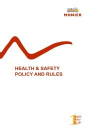 HEALTH & SAFETY POLICY AND RULES