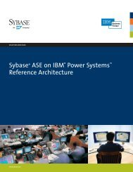 Sybase ASE on IBM Power Systems Reference ... - Sybase.se