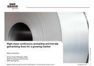 High-class continuous annealing and hot-dip galvanizing lines ... - IIM