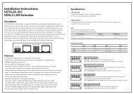 Installation Instructions VDTU2A-301 VDSL2 LAN Extender