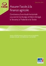 Assurer l'accès à la finance agricole - Agence Française de ...