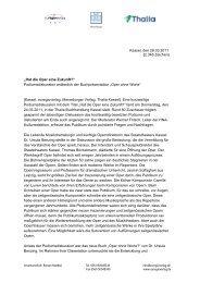 Hat die Oper eine Zukunft? - Merseburger Verlag