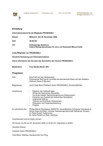 informationsblatt verein obstsortensammlung roggwil einladung, Einladung