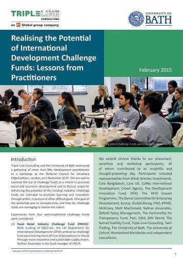 Triple-Line-Learning-Paper-on-International-Development-Challenge-Funds