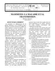 MAMMITES: LA MALADIE ET SA TRANSMISSION - Babcock Institute