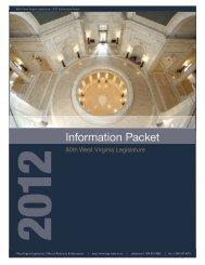 Information Packet - 2012 - West Virginia Legislature