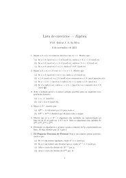 Lista de exerc´ıcios — Algebra - staticfly.net