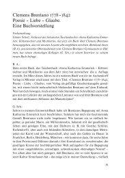 Clemens Brentano 1778–1842 Poesie – Liebe – Glaube. Eine ...