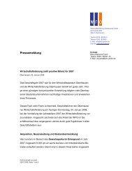 Pressemeldung - WFO Wirtschaftsförderung Oberhausen GmbH