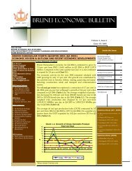 Brunei Economic Bulletin Vol.3 Issue No.4 - Brunei Resources