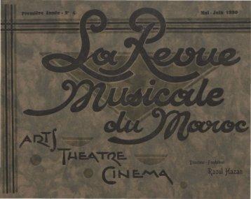 Revue Musicale du Maroc