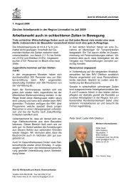 Region Limmattal August 2009 (PDF, 34 kB) - Amt für Wirtschaft und ...
