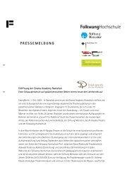 PRESSEMELDUNG - Stiftung Mercator