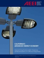 California's Advanced Energy Economy - Analysis Group