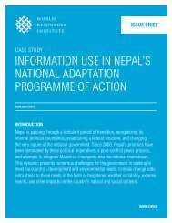 INFORMatION use IN NePaL's NatIONaL adaPtatION PROGRaMMe ...