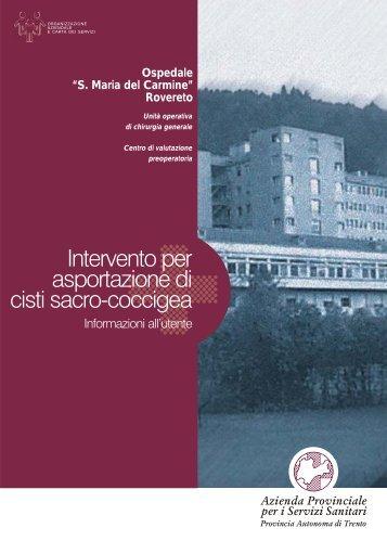 cisti sacro-coccigea.cdr - Azienda Provinciale per i Servizi Sanitari